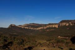 Der imponierende Berg des Weges durch EL weit Lizenzfreies Stockfoto