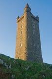 Der imponierende Scrabo Kontrollturm in Nordirland lizenzfreies stockfoto