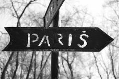 Der Index nach Paris lizenzfreies stockfoto