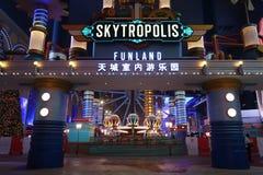 Der Innenfreizeitpark SkyTropolis in der Erholungsort-Welt Genting stockfotos
