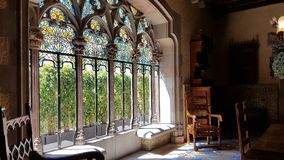 Der Innenraum der Casa Amatller in Barcelona, Catalonial, Spanien stockbilder