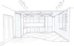 Der Innenraum der Küche Lizenzfreie Stockfotos
