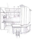 Der Innenraum der Küche Lizenzfreies Stockfoto