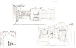 Der Innenraum der Küche Stockfotografie