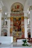 Der Innenraum der Kirche Stockfoto