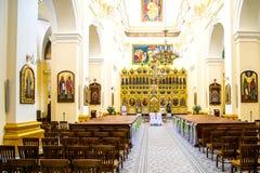 Der Innenraum der Kirche Lizenzfreies Stockbild