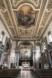 Der Innenraum der Kirche des Klosters von San Marco Lizenzfreies Stockbild