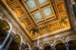 Der Innenraum der Kongressbibliothek, in Washington, DC Stockbild