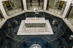 Der Innenraum der Krypta und des Mausoleums von Bourguiba in Mona Stockfotografie