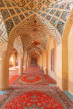 Der Innenraum der rosa Moschee Stockbilder