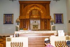 Der Innenraum der Synagoge Kipusit in Tel Aviv israel Stockbilder