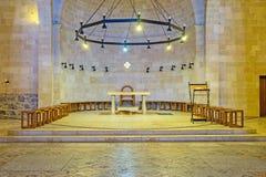 Der Innenraum der Vermehrungs-Kirche Lizenzfreie Stockfotografie