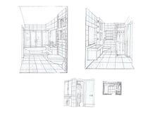 Der Innenraum des Badezimmers Stockbild