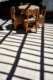 Der Innenraum des Cafés in Sucre Stockbild