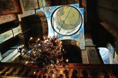 Der Innenraum des Heiligen Sophia Cathedral in Veliky Novgorod, Russland Stockbilder