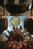 Der Innenraum des Heiligen Sophia Cathedral in Veliky Novgorod, Russland Lizenzfreies Stockbild