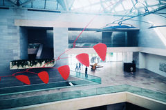 Der Innenraum des Ostgebäudes des National Gallery der Kunst Stockbilder