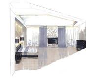 Der Innenraum des Schlafzimmers Lizenzfreies Stockfoto