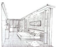Der Innenraum des Schlafzimmers Lizenzfreie Stockfotografie