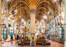 Der Innenraum des Schlosses Vajdahunyad in Budapest Lizenzfreies Stockfoto