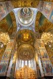 """Der Innenraum des Tempels des Retters auf verschüttetem Blut Saint†""""Petersburg, Russland Lizenzfreies Stockbild"""