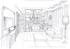 Der Innenraum des Wohnzimmers Stockfotos