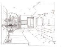 Der Innenraum des Wohnzimmers Stockfoto
