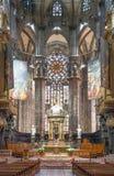 Der Innenraum der Duomo-Kathedrale Lizenzfreie Stockbilder