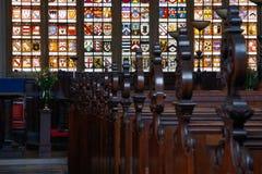 Der Innenraum einer englischen Kapelle Stockbild
