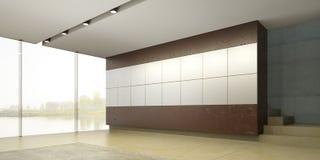 Der Innenraum eines leeren Raumes Lizenzfreies Stockfoto
