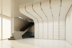 Der Innenraum eines leeren Raumes Stockbild