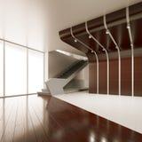 Der Innenraum eines leeren Raumes Lizenzfreie Stockfotografie