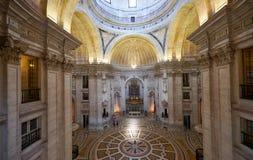 Der Innenraum Engracia-Kirche jetzt nationalen Pantheons lissabon Lizenzfreies Stockbild