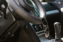 Der Innenraum innerhalb des Autos Stockfoto