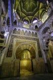 Der Innenraum der Kapelle von Villaviciosa in der Süßhülsenbaummoschee Mezquita in Cordoba Spanien Andalusien lizenzfreies stockbild