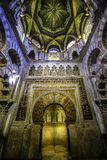 Der Innenraum der Kapelle von Villaviciosa in der Süßhülsenbaummoschee Mezquita in Cordoba Spanien Andalusien stockbilder