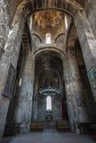Der Innenraum mit dem Altar der Kirche des gesegneten Jungfrau Ozun-Klosters Stockbild