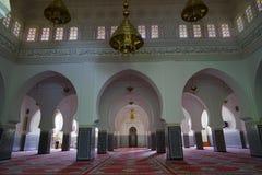 Der Innenraum der Moschee von Rissani in Marokko stockbild
