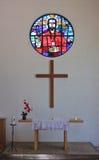 Der Innenraum Protestantische Kirche Lizenzfreie Stockbilder
