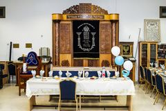 Der Innenraum der Synagoge a in Ramla israel lizenzfreie stockfotos