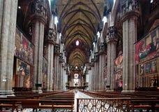 Der Innenraum von Duomo Mailand Lizenzfreie Stockfotos