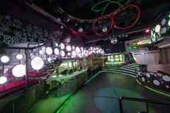 Der Innenraum von einem der Räume des Nachtklubs Pacha Lizenzfreie Stockbilder