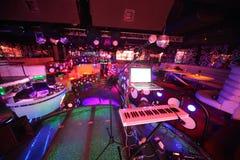 Der Innenraum von einem der Räume des Nachtklubs Pacha Stockfotos