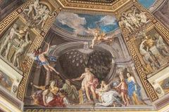 Der Innenraum von einem der Räume des Vatikan-Museums Stockfoto