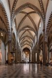 Der Innenraum von Santa Maria Novella-Kirche in Florenz, Italien Stockfotografie