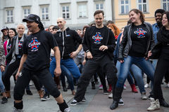 Der internationale Flashmob-Tag von Rueda de Casino Lizenzfreies Stockbild