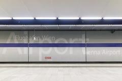 Der internationale Flughafen Wiens in Österreich stockbilder