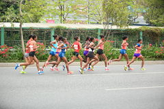 Der 2. internationale Marathonläufer Lizenzfreies Stockfoto