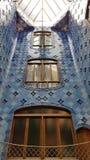 Der interne Lichtschacht der Casa Batllo in Barcelona, Catalonial, lizenzfreie stockbilder