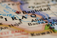 Der Irak-Karte lizenzfreies stockbild